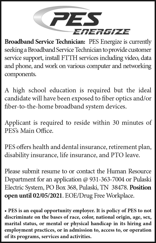 Broadband Service Technician