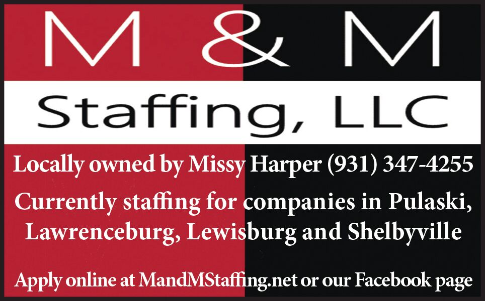 Help Wanted M&M Staffing