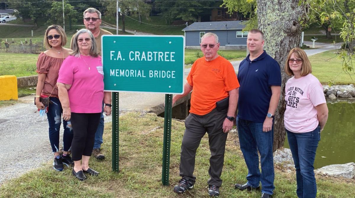 Memorial Bridge Dedicated at Clear Creek