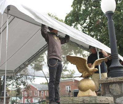 Canopy taken down