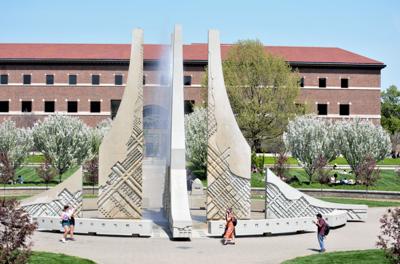 4/27/21 Engineering Fountain Wide Angle 2