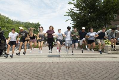 BGR students crossing the tracks