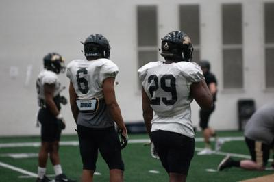 3/4/19 Spring Football Practice, Jalen Graham, Simeon Smiley