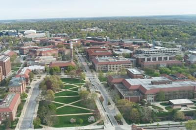 4/18/21 Purdue from Above, Memorial Mall