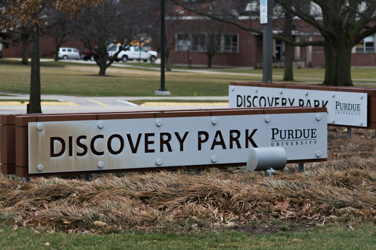 Discovery Park sign with second in back