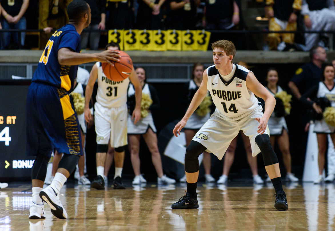 purdue mens basketball boilers seek to use defense to finish home stand undefeated