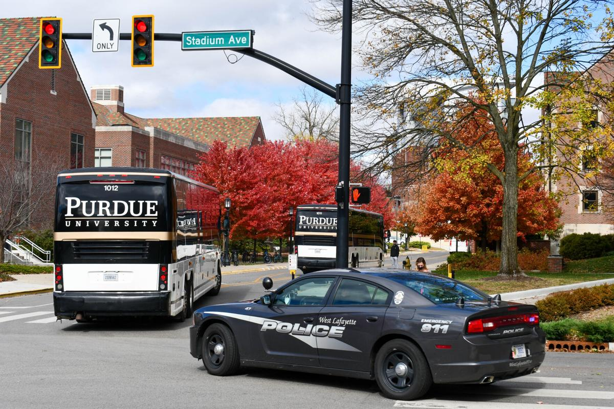 10/24/20 Purdue players arrive