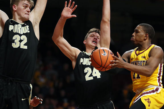 purdue mens basketball purdue dominates gophers extend win streak to 13
