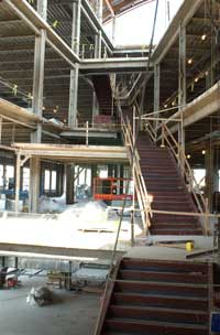 Construction continues on hall