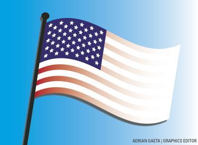 1/21 Whitewashed American Flag