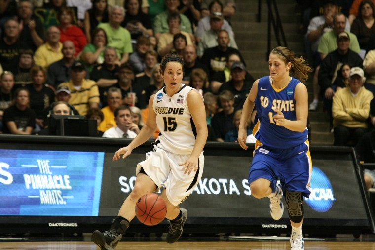 3/17/12. Courtney Moses, Purdue vs. SD State, Women's NCAA Basketball Tournament