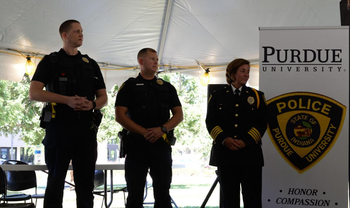 9/28/21 PUPD police ceremony, Life-saving officers standing up