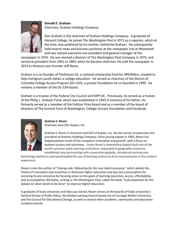 4/27/17 Bios of Kaplan University Leadership   Campus