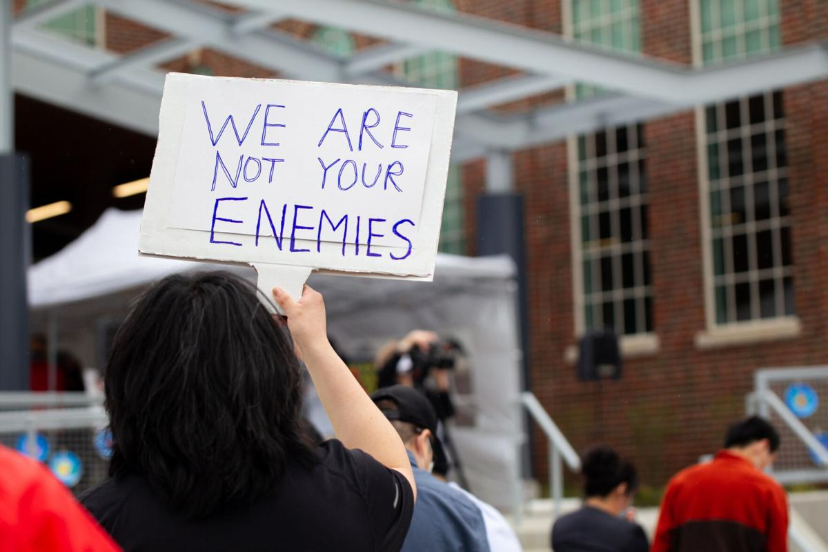 """04/09/2021 Stop Asian Hate Rally: Sign """"We are not your enemies"""""""