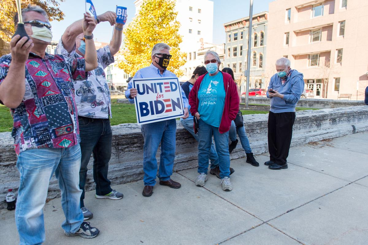 11/07/20 Biden Victory Celebrations, Joe Mackey with sign