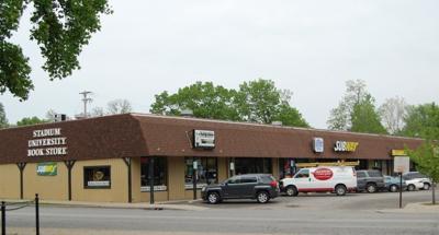 Plaza across from Mackey - 720 Northwestern Ave.