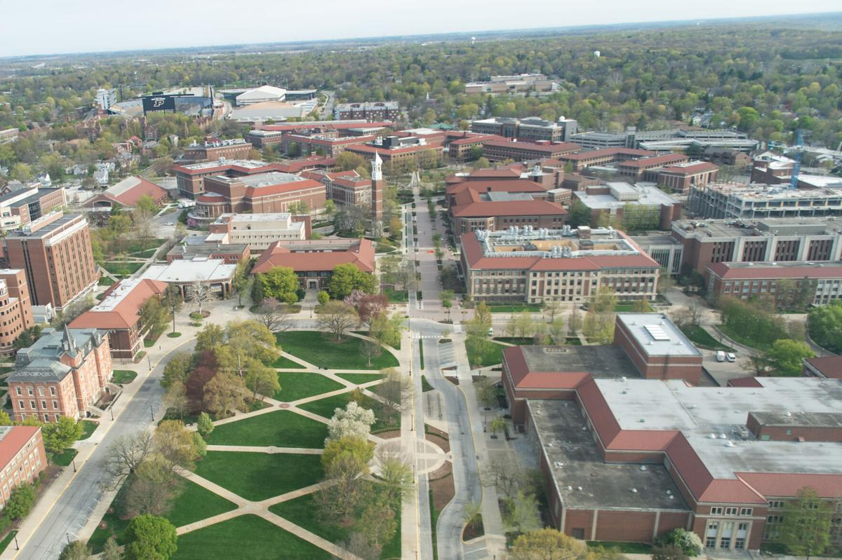 4/18/21 Purdue from Above, Academic Campus
