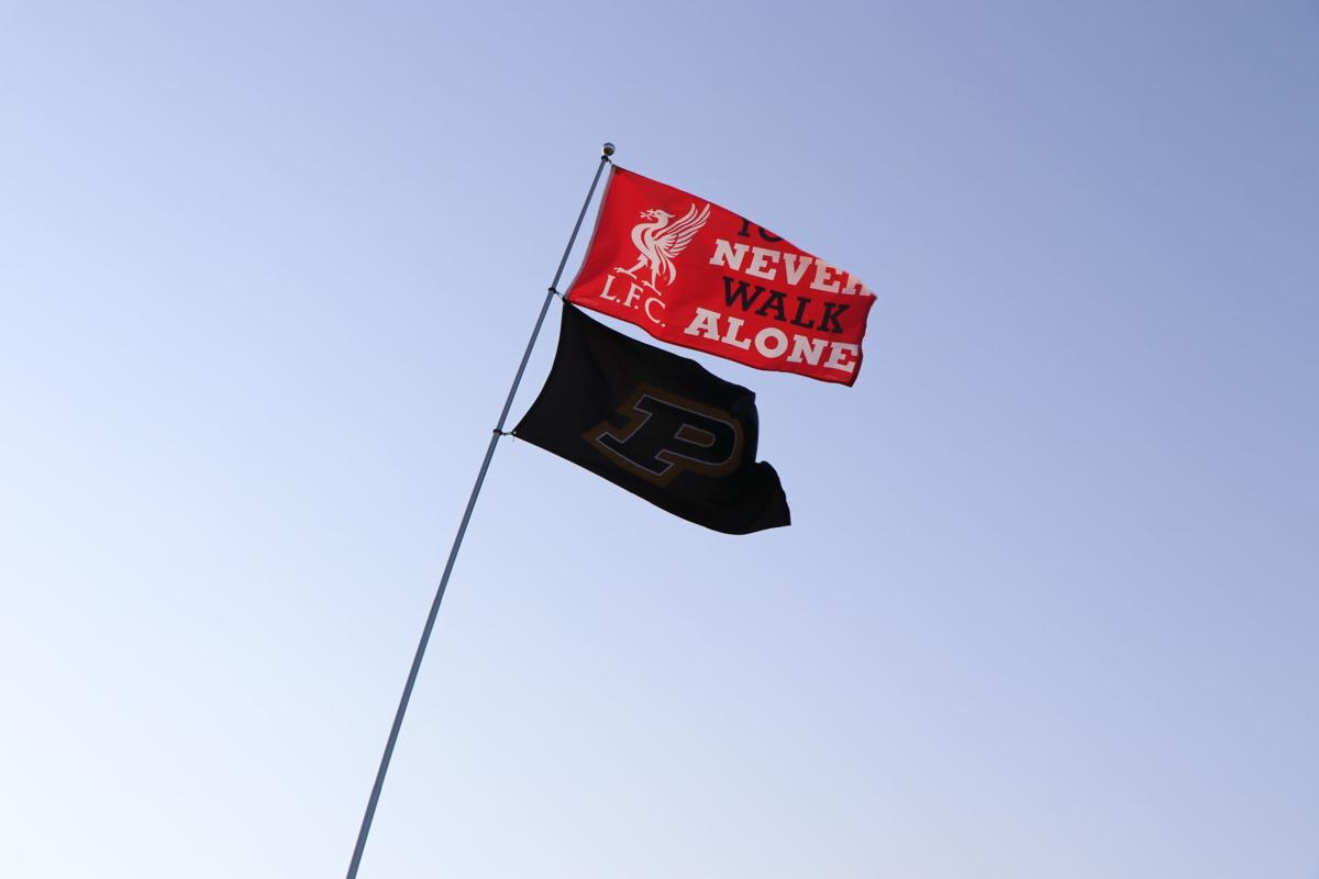 7/21/19 Purdue flag at Notre Dame Stadium