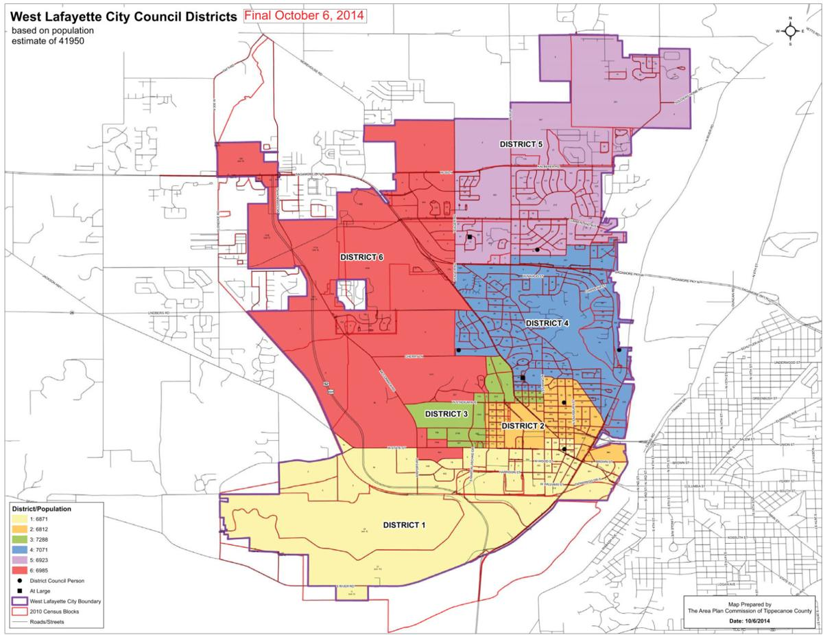 West Lafayette District Map Passes City State Purdueexponentorg - Lafayette map