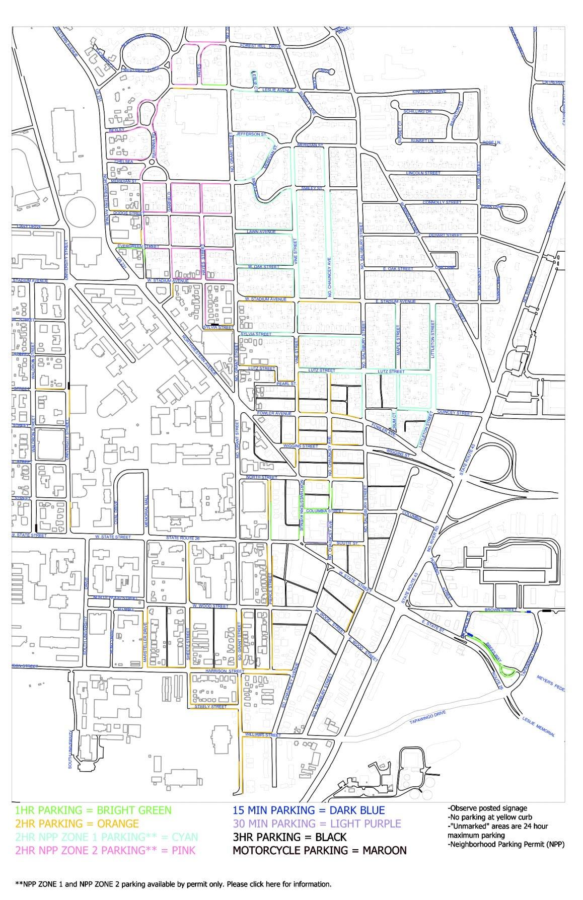 Purdue Campus Parking Map Purdue Residence Hall Parking Inspiring