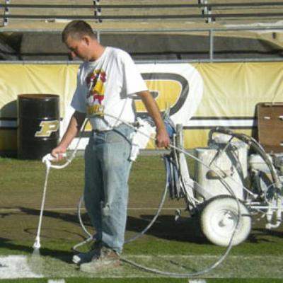 True paint crew grooms Ross-Ade turf for each home game