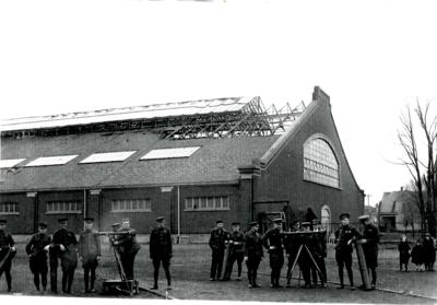 4/21/19 1930s Armory roof bazookas
