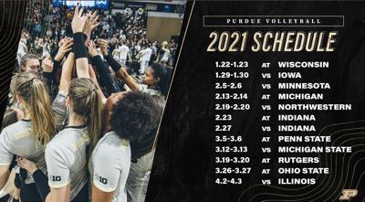 12/30/20 Purdue Volleyball Schedule