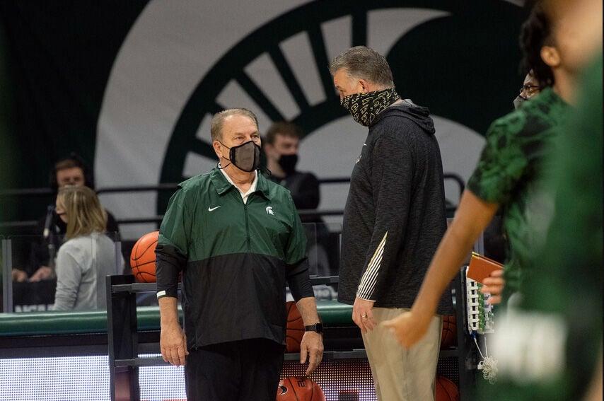 1/8/21 Michigan State, Coaches Tom Izzo, Matt Painter