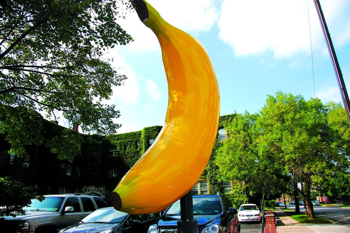 Banana sculpture stirs controversy in west lafayette city granite banana sculpture 82514 buycottarizona Choice Image