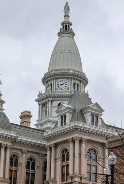 1/2/19 Downtown Lafayette Stock Images, Tippecanoe County Court House