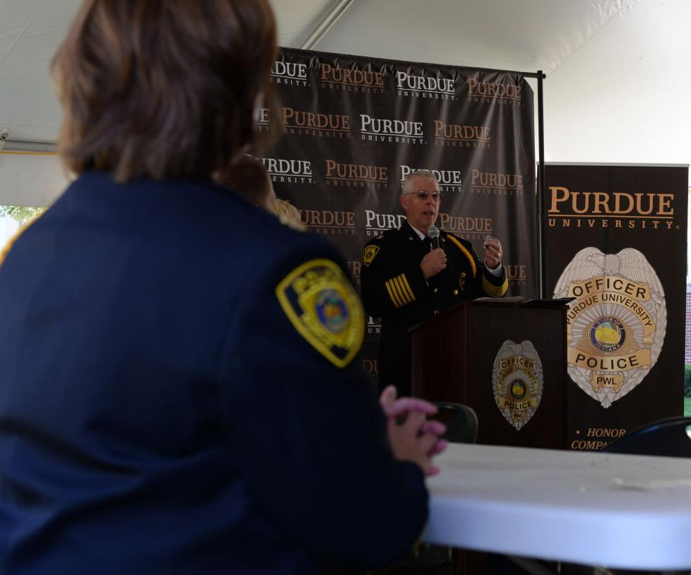 9/28/21 PUPD police ceremony, Chief Cox