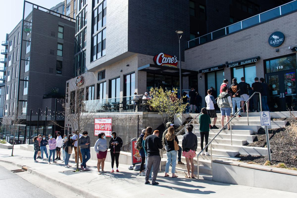 4/13/21 Raising Cane's Opening, Wide Angle