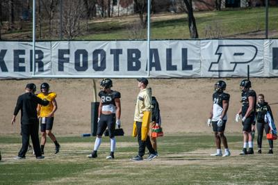 3/26/19 Football Practice, Payne Durham, Brycen Hopkins, Darius Pittman