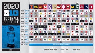 8/5/2020 Big Ten fall football schedule