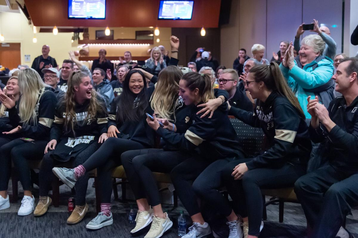 12/1/19 Volleyball Selection Sunday, Close up Reaction