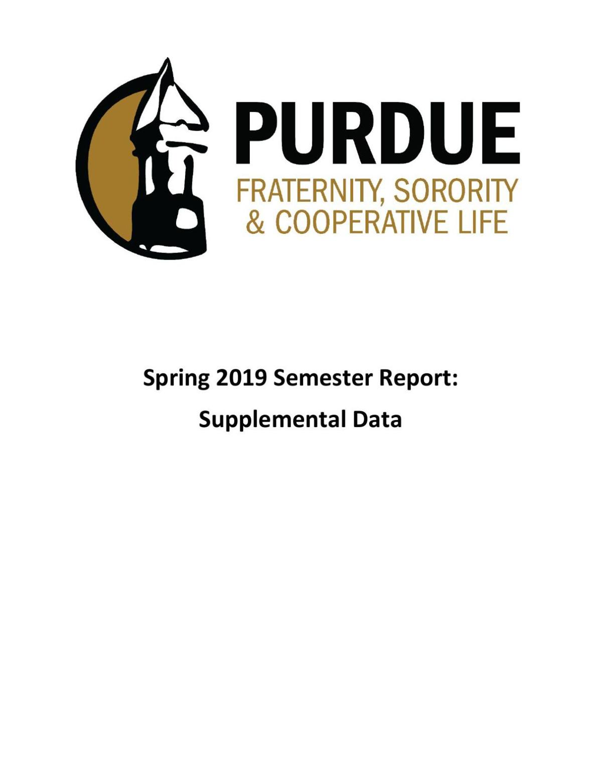 Fall 2019 Fraternity, Sorority & Cooperative Life Supplemental Report