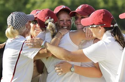 5/26/12 NCAA Women's Golf, Alabama Celebrates Title