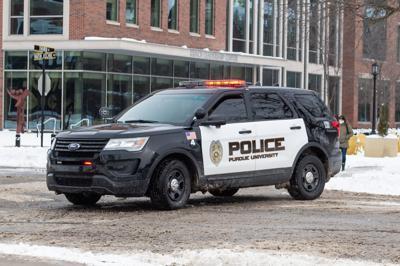 2/17/21 Purdue Police Car