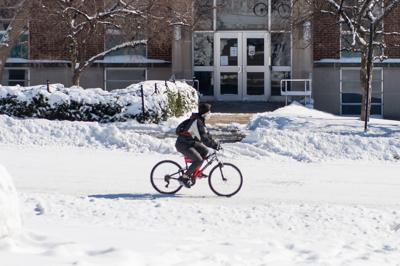 2/16/21 Purdue Snow Day, Cyclist