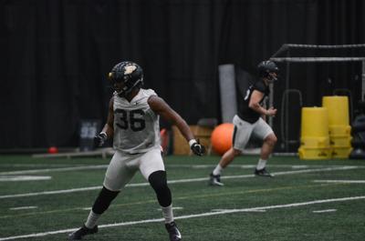 2/27/19 Spring Football Practice; Jaylan Alexander