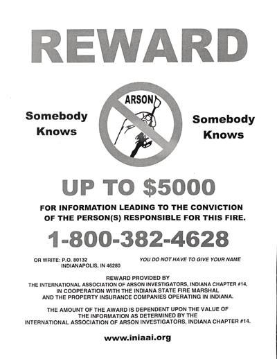 1/3/20 Lafayette Limos bus fire reward flyer