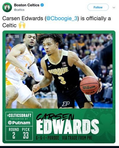 6/21/19 Carsen Edwards Boston Celtics