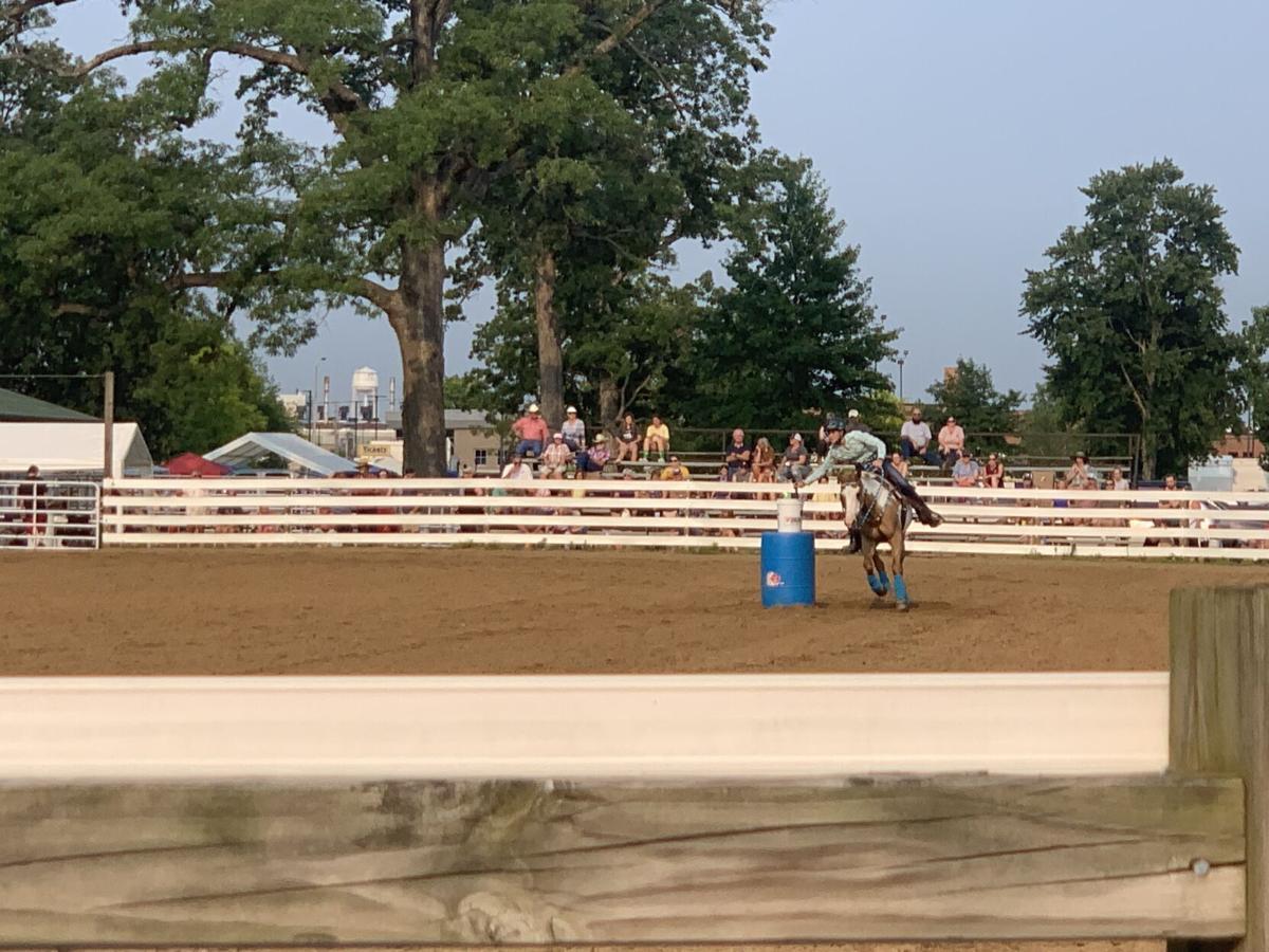 Tippecanoe County 4-H Fair Monday, barrel racing