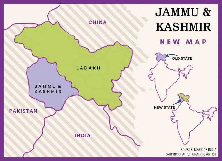 kashmir map graphic