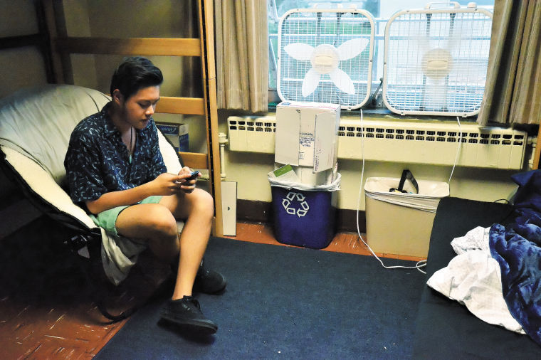 dorm rooms too hot to handle