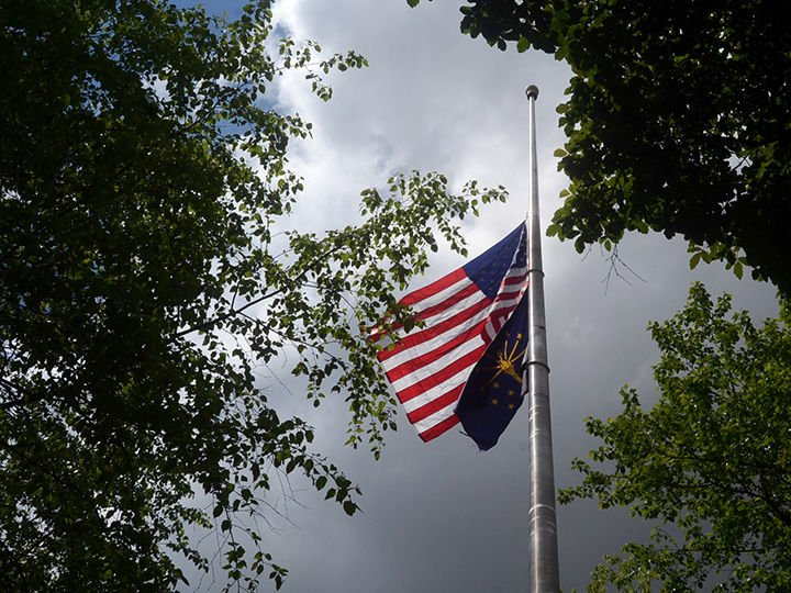 5/22/20 Half-Staff Flag, Memorial Mall