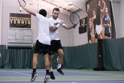 1/27/19 Purdue Men's Tennis, Dominik Sochurek and Athell Bennett