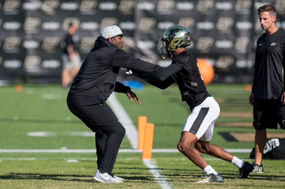 10/23/19 Football Practice, Assistant Coach Jamarcus Shepard,  Milton Wright