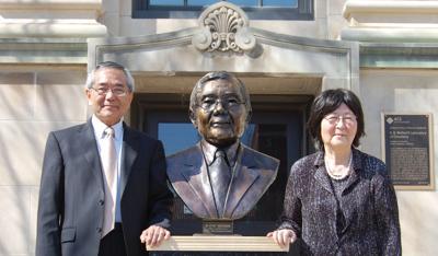 4/18/14 Nobel laureate Ei-ichi Negishi and his wife, Sumire