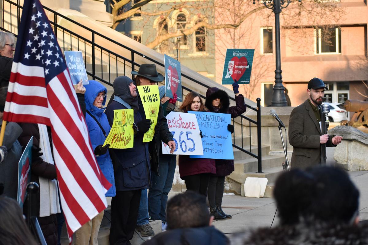 2/18/19 Fake Emergency Protest, Chris Hegarty